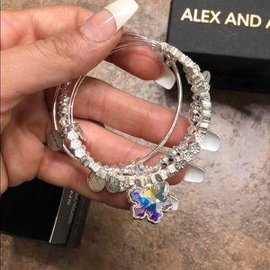 Beautiful snowflake Alex and Ani bracelets
